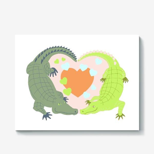 Холст «Крокодилова любовь»