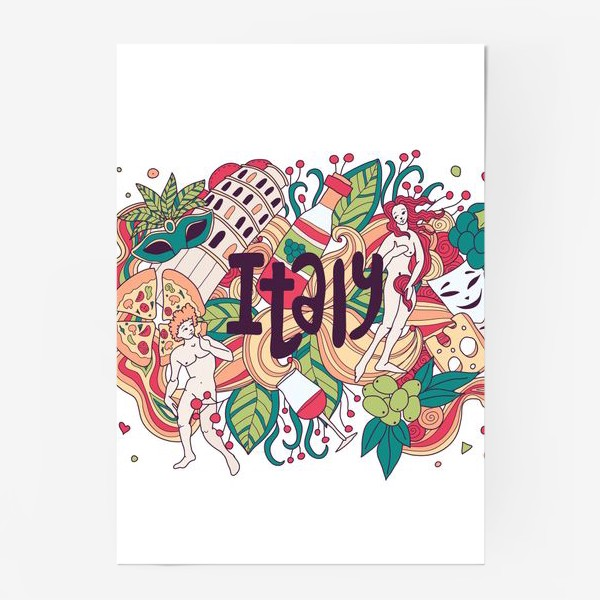 Постер «Италия дудлы»