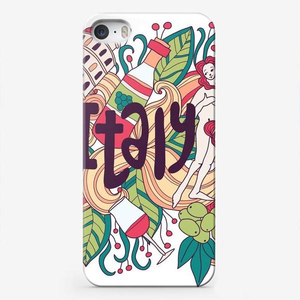 Чехол iPhone «Италия дудлы»