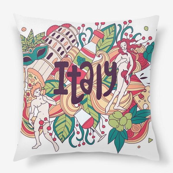Подушка «Италия дудлы»
