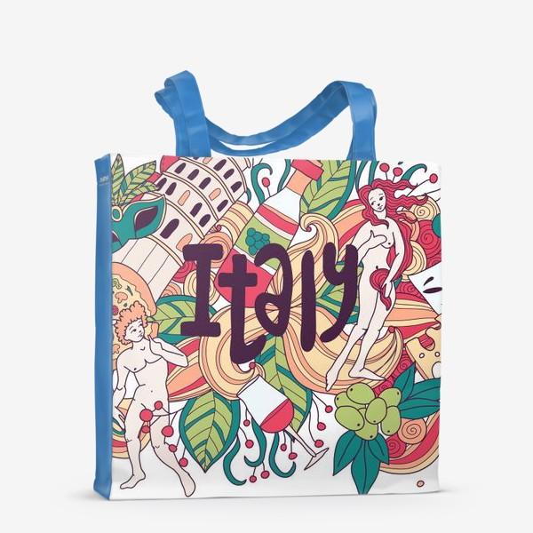 Сумка-шоппер «Италия дудлы»