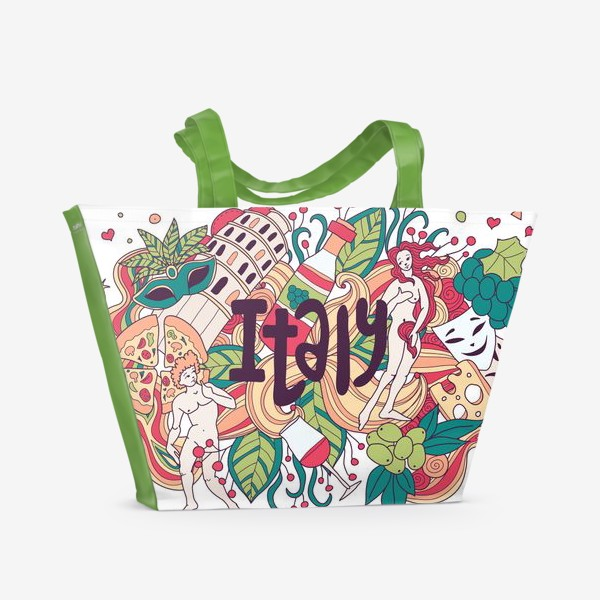 Пляжная сумка «Италия дудлы»