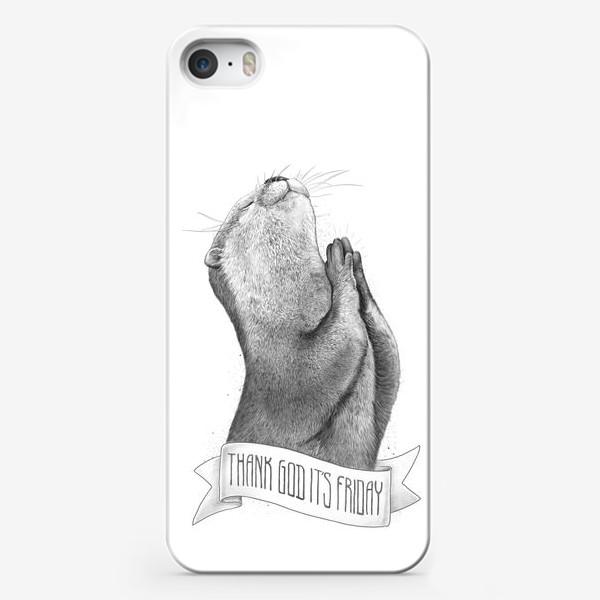 Чехол iPhone «слава богу, сегодня пятница»