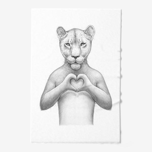 Полотенце «Львица с сердцем»