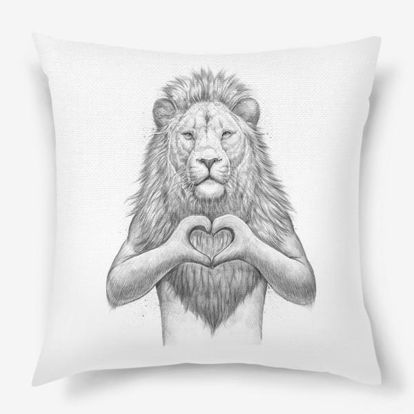 Подушка «Лев с сердцем»