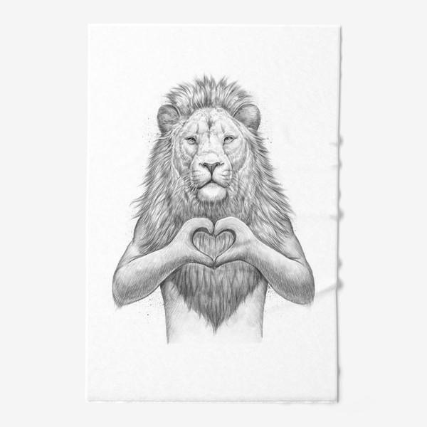 Полотенце «Лев с сердцем»