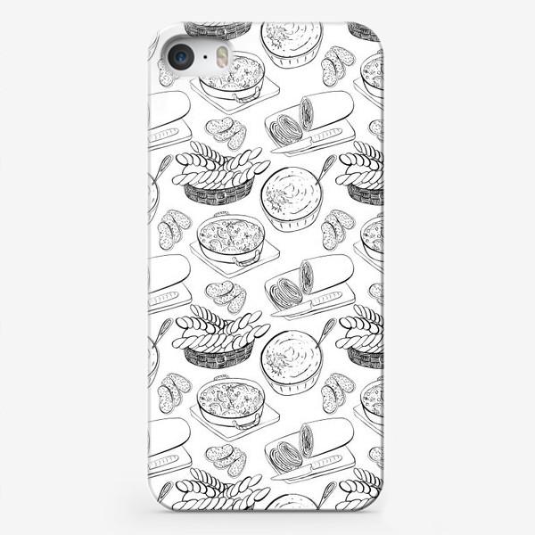 Чехол iPhone «Паттерн итальянский обед»