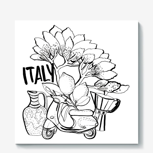 Холст «Юг Италии»