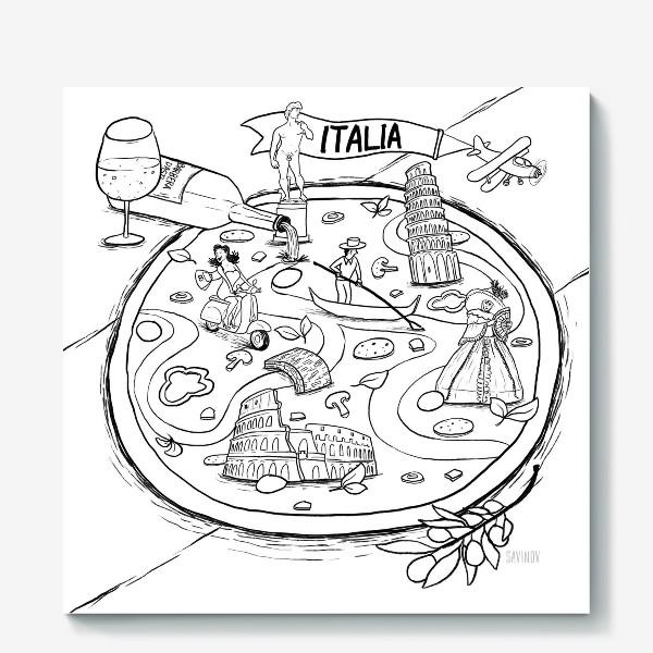 Холст «Italia!»
