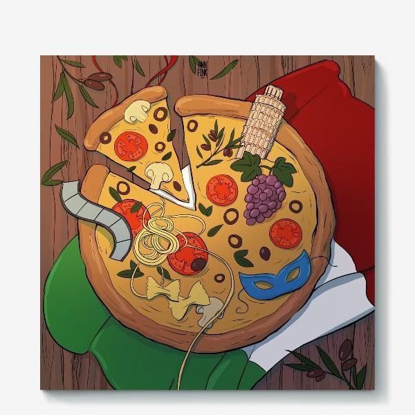 Холст «Пицца Италия»