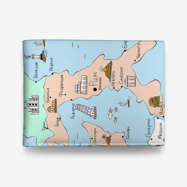 Кошелек «Карта Италии. Достопримечательности»