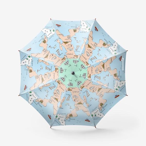 Зонт «Карта Италии. Достопримечательности»