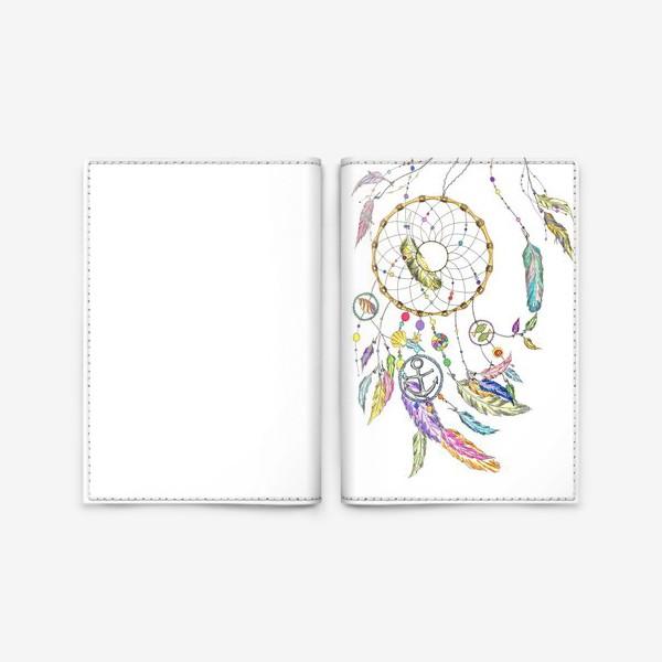 Обложка для паспорта «Ловец снов на белом»