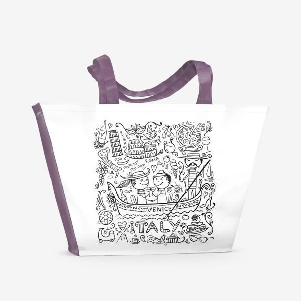 Пляжная сумка «Раскрась Италию!»