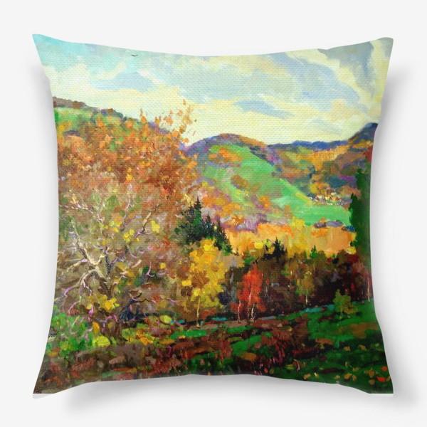 Подушка «Осень в Жигулях»