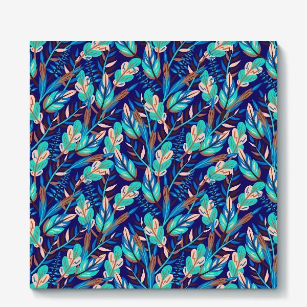 Холст «Весенние листья в синеве»
