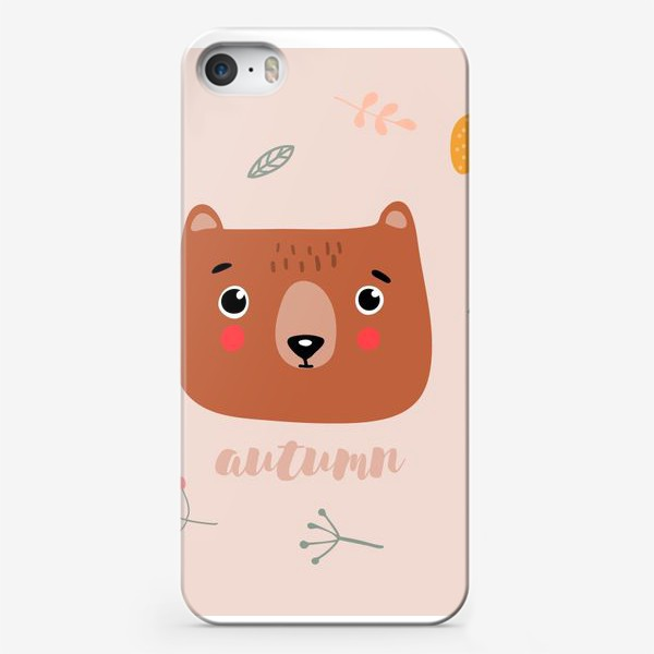 Чехол iPhone «осенний мишка»
