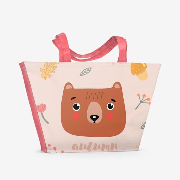Пляжная сумка «осенний мишка»
