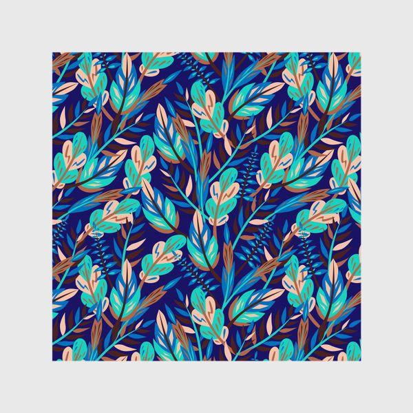 Шторы «Весенние листья в синеве»