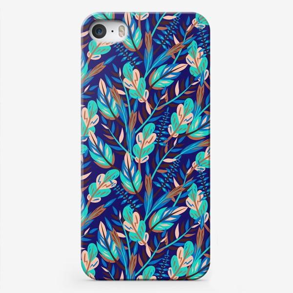 Чехол iPhone «Весенние листья в синеве»