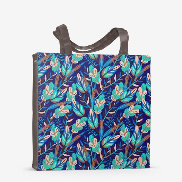 Сумка-шоппер «Весенние листья в синеве»