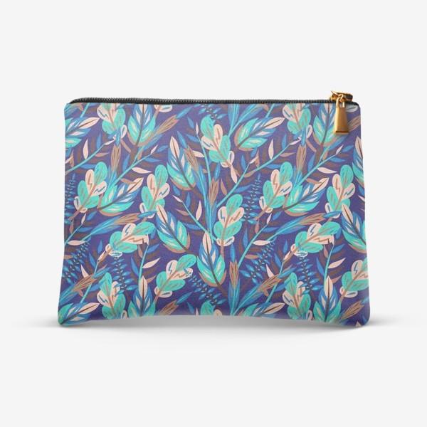 Косметичка «Весенние листья в синеве»