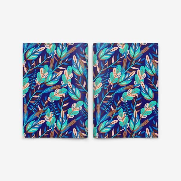 Обложка для паспорта «Весенние листья в синеве»