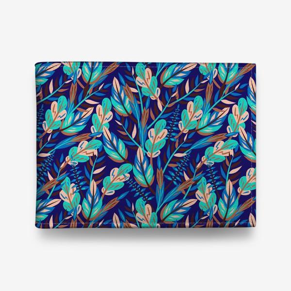 Кошелек «Весенние листья в синеве»