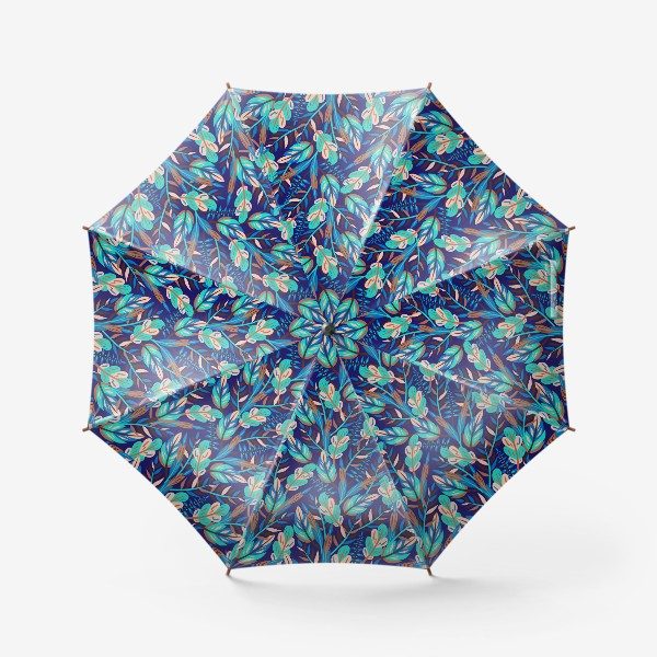 Зонт «Весенние листья в синеве»
