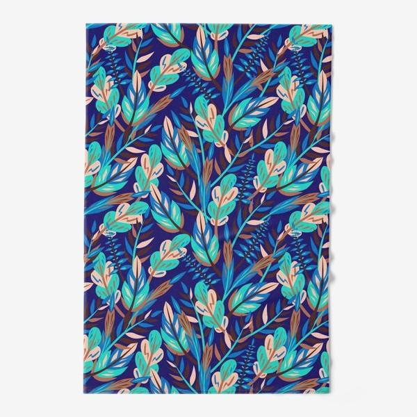 Полотенце «Весенние листья в синеве»
