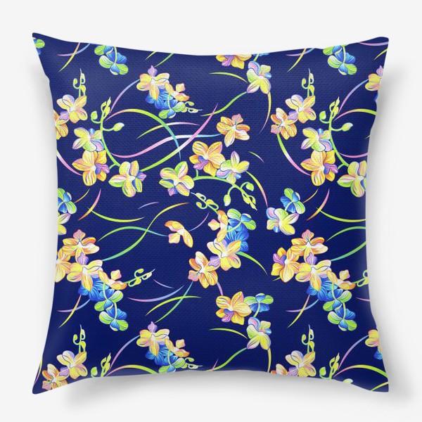 Подушка «Тропические орхидеи»
