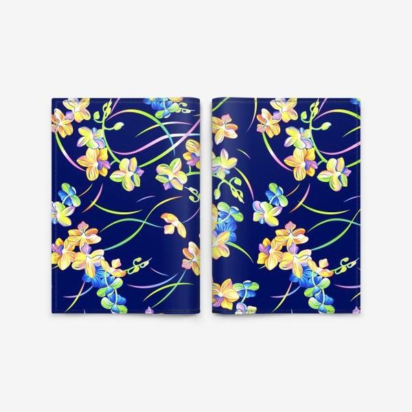Обложка для паспорта «Тропические орхидеи»