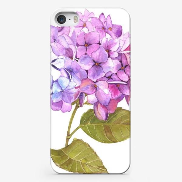 Чехол iPhone «Розовая гртензия»