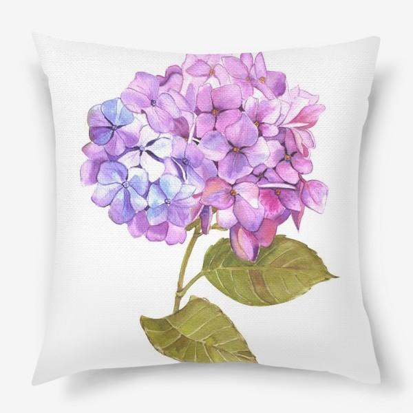 Подушка «Розовая гртензия»