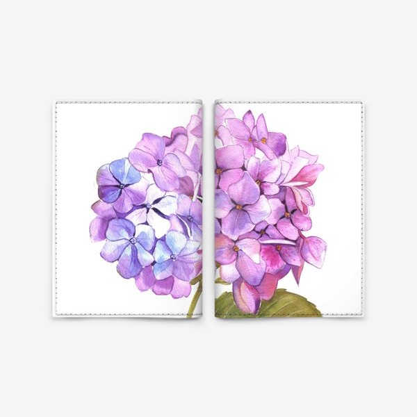 Обложка для паспорта «Розовая гртензия»