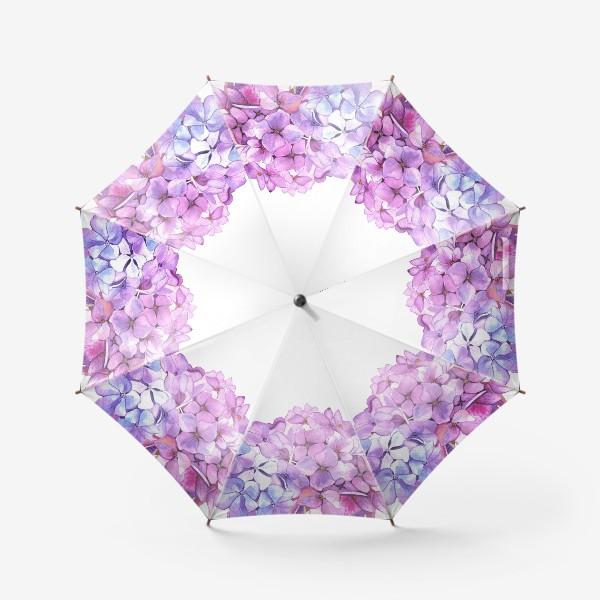 Зонт «Розовая гртензия»