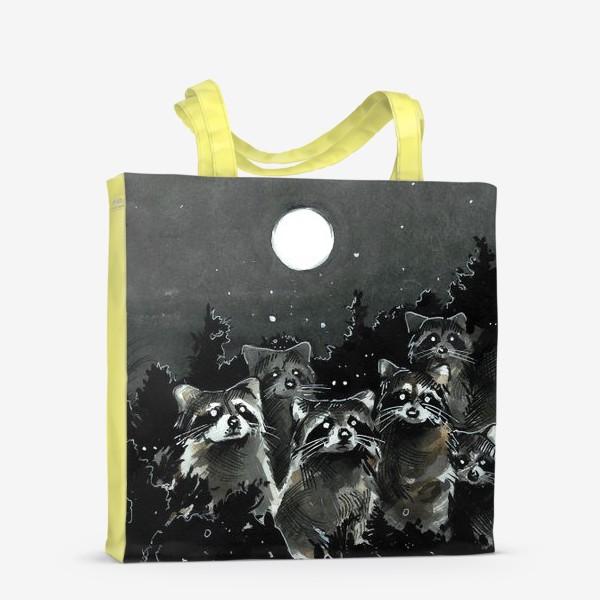 Сумка-шоппер «Зомби-еноты»