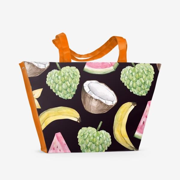 Пляжная сумка «Экзотические фрукты»