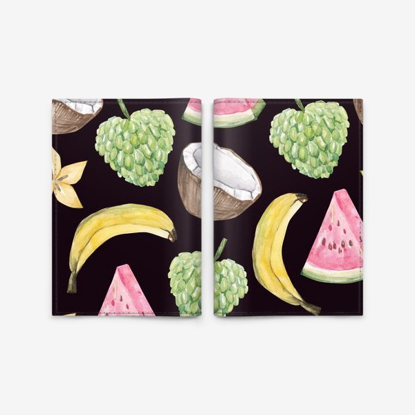 Обложка для паспорта «Экзотические фрукты»