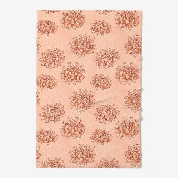 Полотенце «Розовые хризантемы»