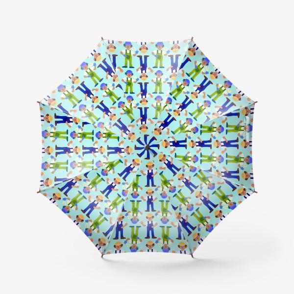 Зонт «Мужички в комбинезонах»