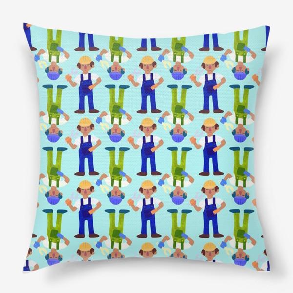 Подушка «Мужички в комбинезонах»