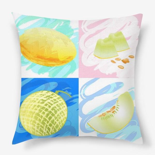 Подушка «Яркие дыни»