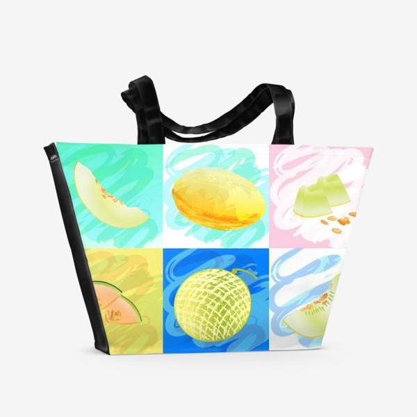 Пляжная сумка «Яркие дыни»