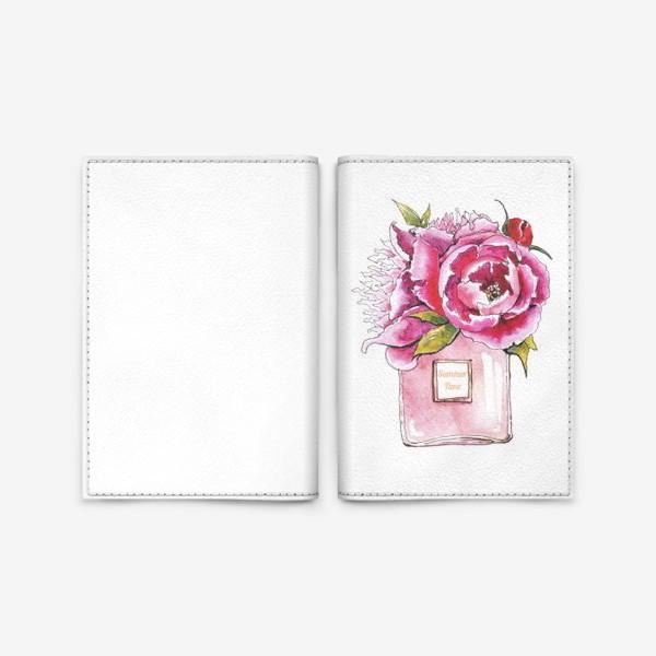 Обложка для паспорта «Пионы и духи»