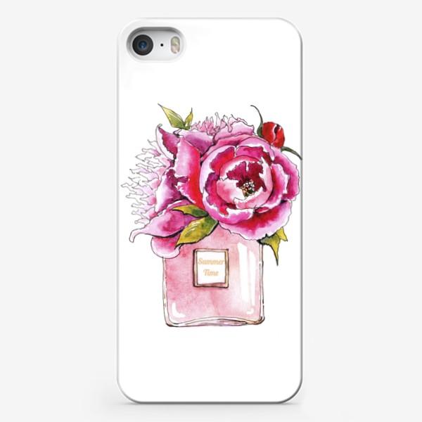Чехол iPhone «Пионы и духи»