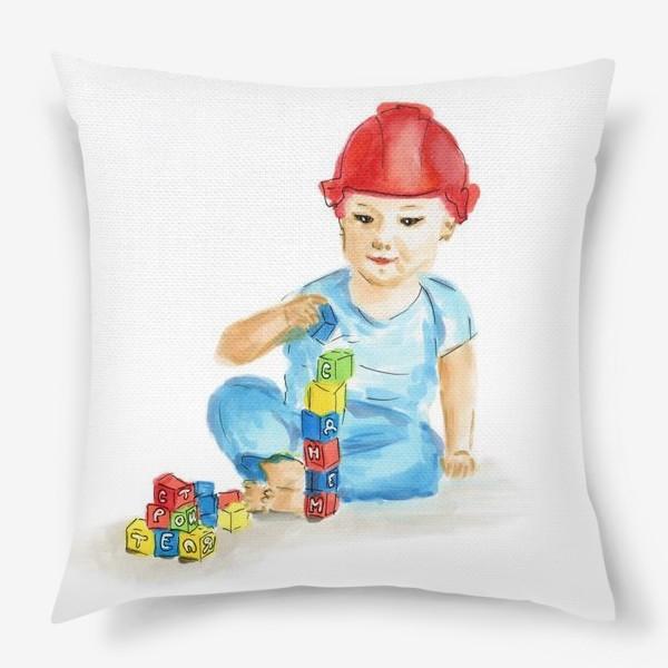 Подушка «Маленький строитель»