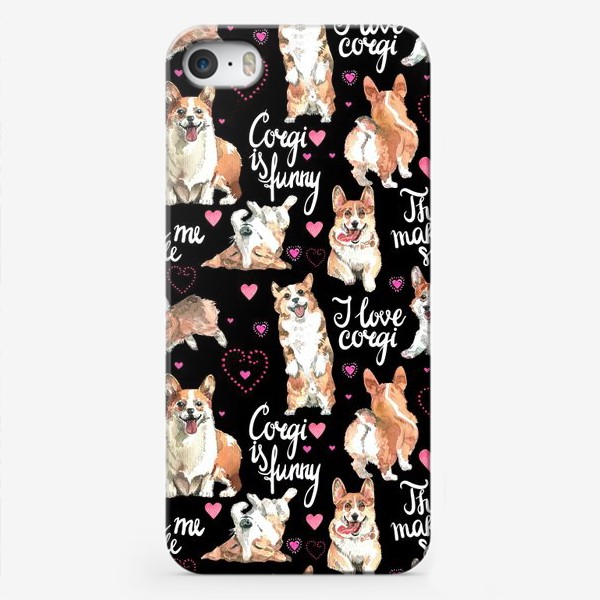 Чехол iPhone «Я люблю корги»