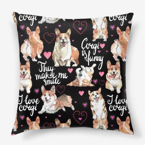 Подушка «Я люблю корги»