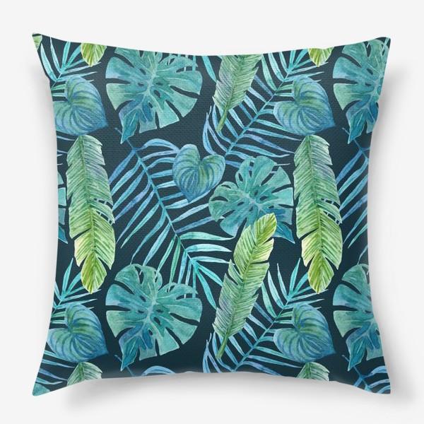 Подушка «Акварельные тропики»